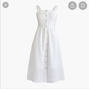 JCrew midi eyelet sundress SZ 0